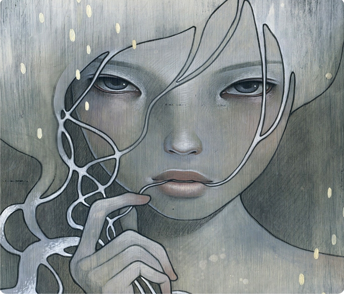 Audrey Kawasaki 1982 | American painter | The women on wood