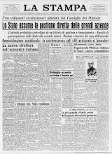 LA STAMPA 14 GENNAIO 1944