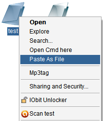 Paste As File , freewares , windows softwares, clipboard customization