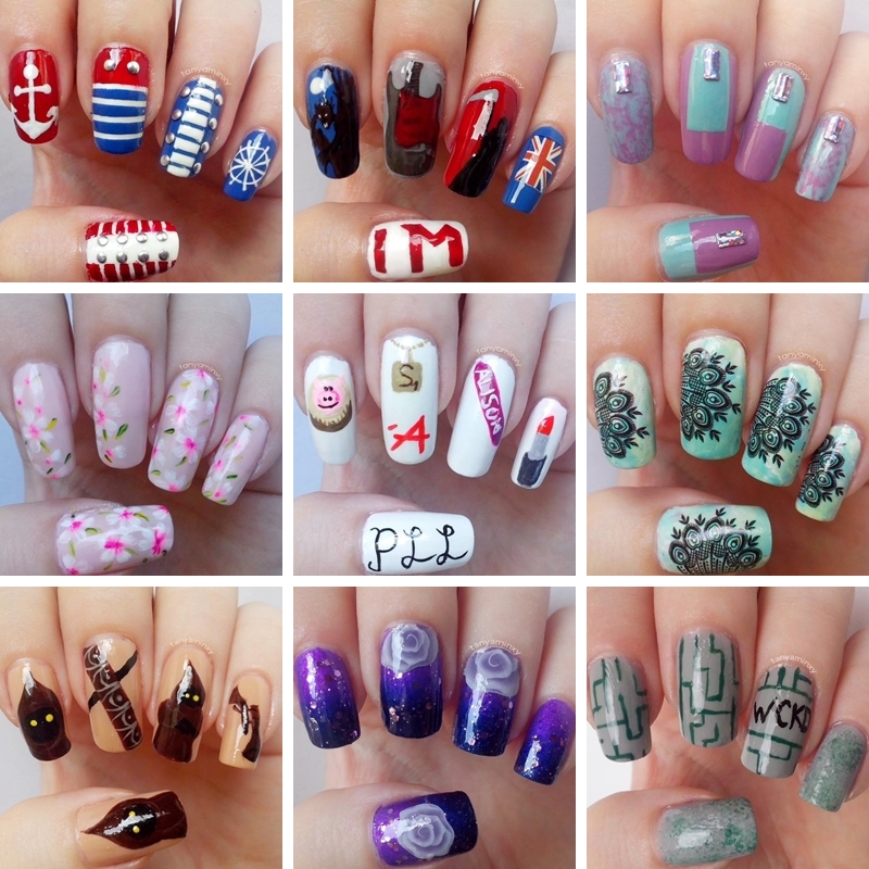Tanya Minxy Nails Goodbye 2014 Welcome 2015 Nail Art Nail Design Manicure