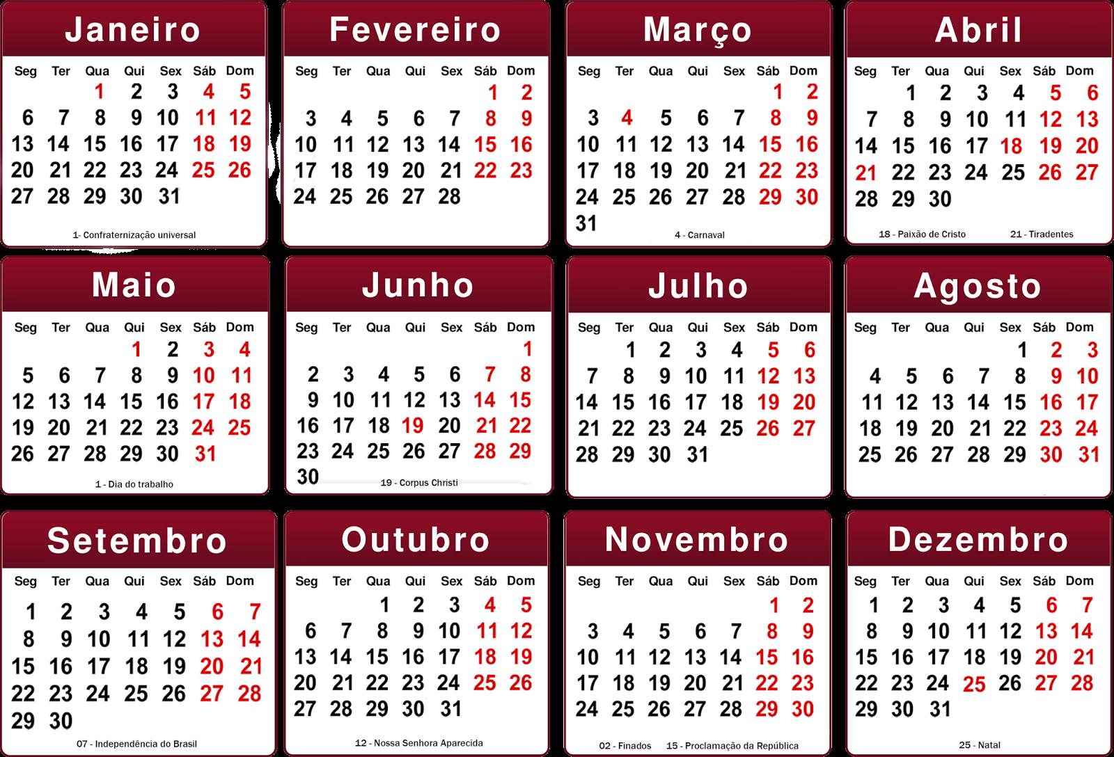 Calendario 2015 Em Portugues Calendario 2015 Para Imprimir Jogos De E ...