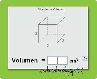 Cálculo de volumen.