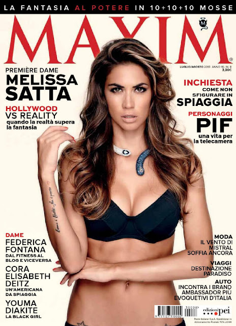 Melissa Satta - Maxim Magazine Italy July August 2013