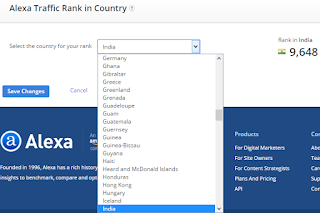 s a amazon web company which allows you to check your website How To Know Alexa Rank Of A Particular Country