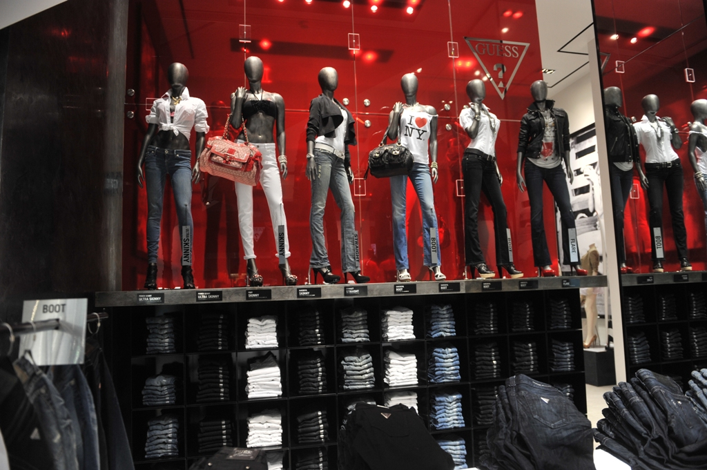bright lights my city guess flagship store opens