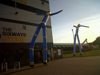 Wacky Waving Arm-Flailing Inflatable Tube-Men at Worcester Warriors Rugby Club
