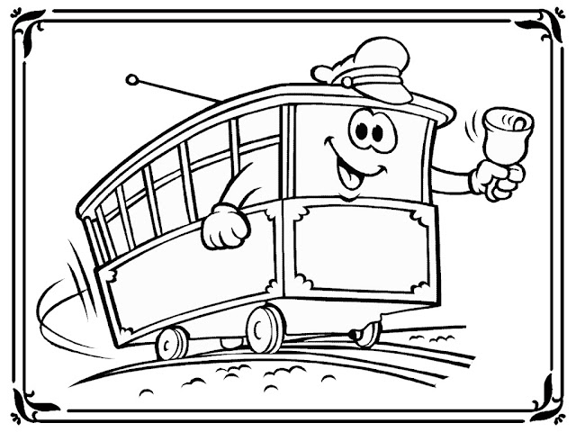 Disney Train Coloring Pages