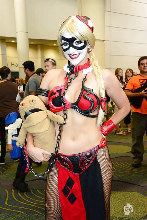 Cosplay Leia version harley quinn