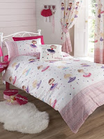 Dancing Ballerina Pink Single Duvet Cover Bed Set