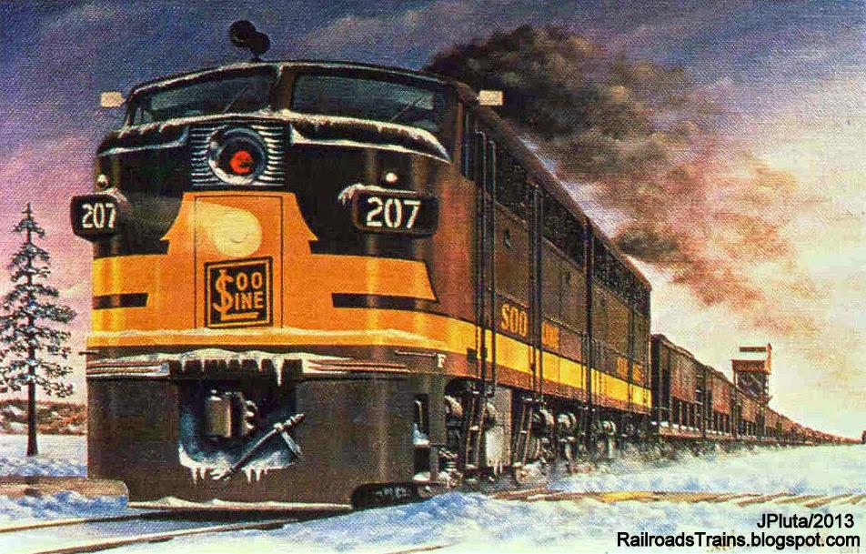 Marie Advertising Train Soo Line Railroad Poster Minneapolis ST Paul Sault St