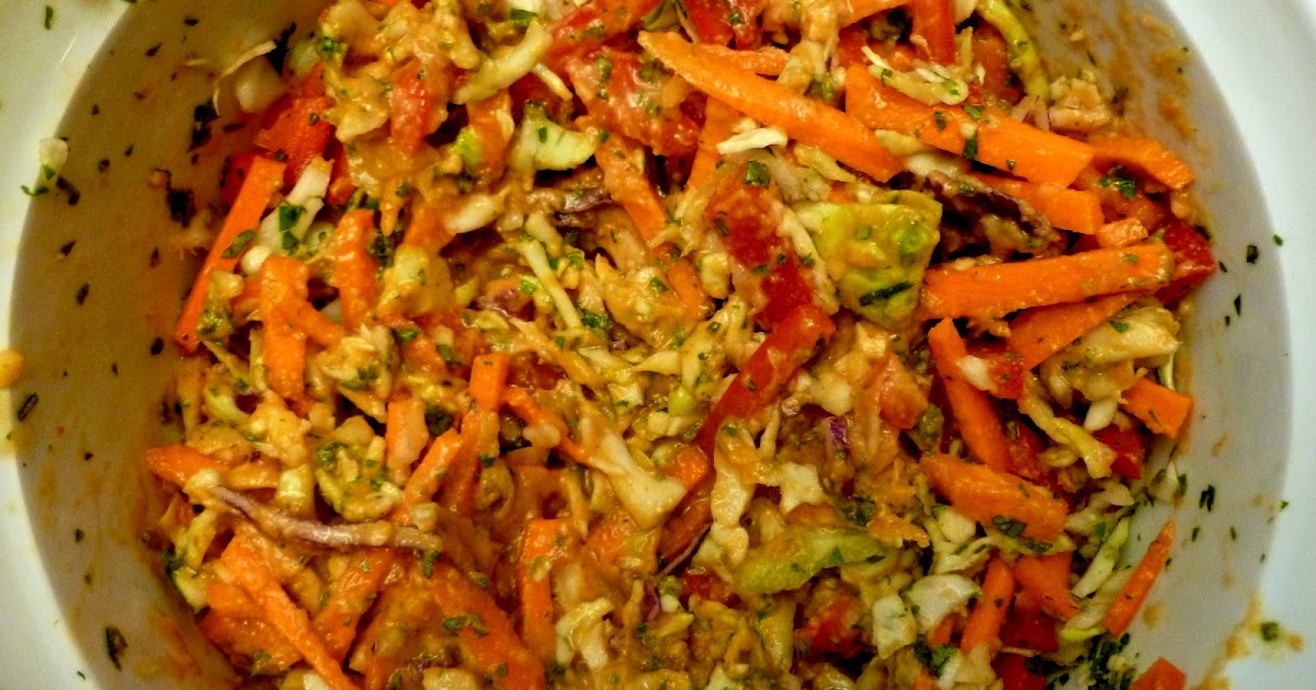 Wandering Voyager: Asian-Style Spicy Coleslaw
