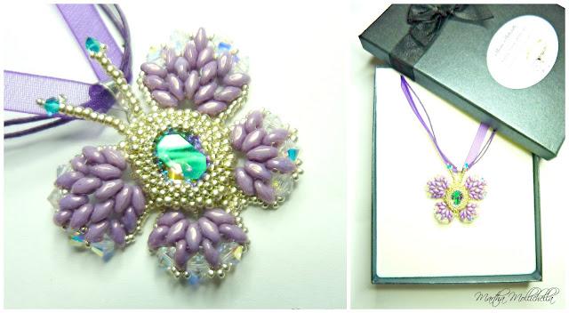 Swarovski Butterfly pendant handmade in Italy by Martha Mollichella