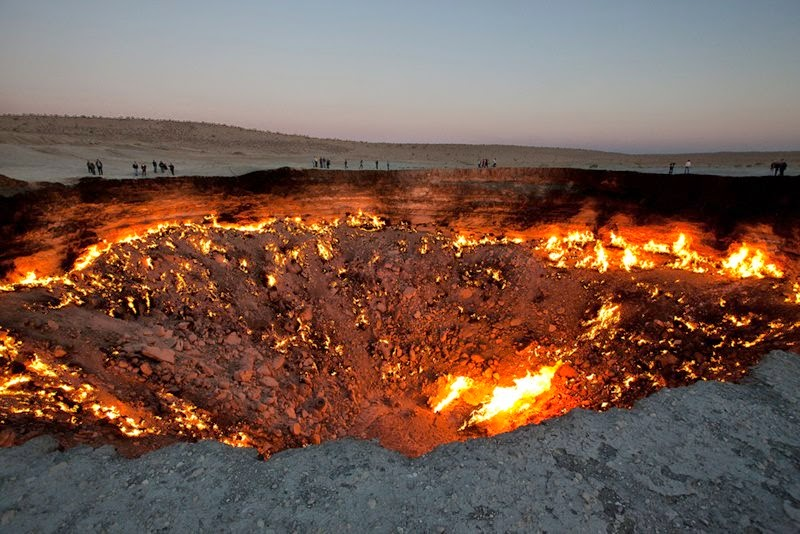 Burning Gas Crater in Turkmenistan, Derweze