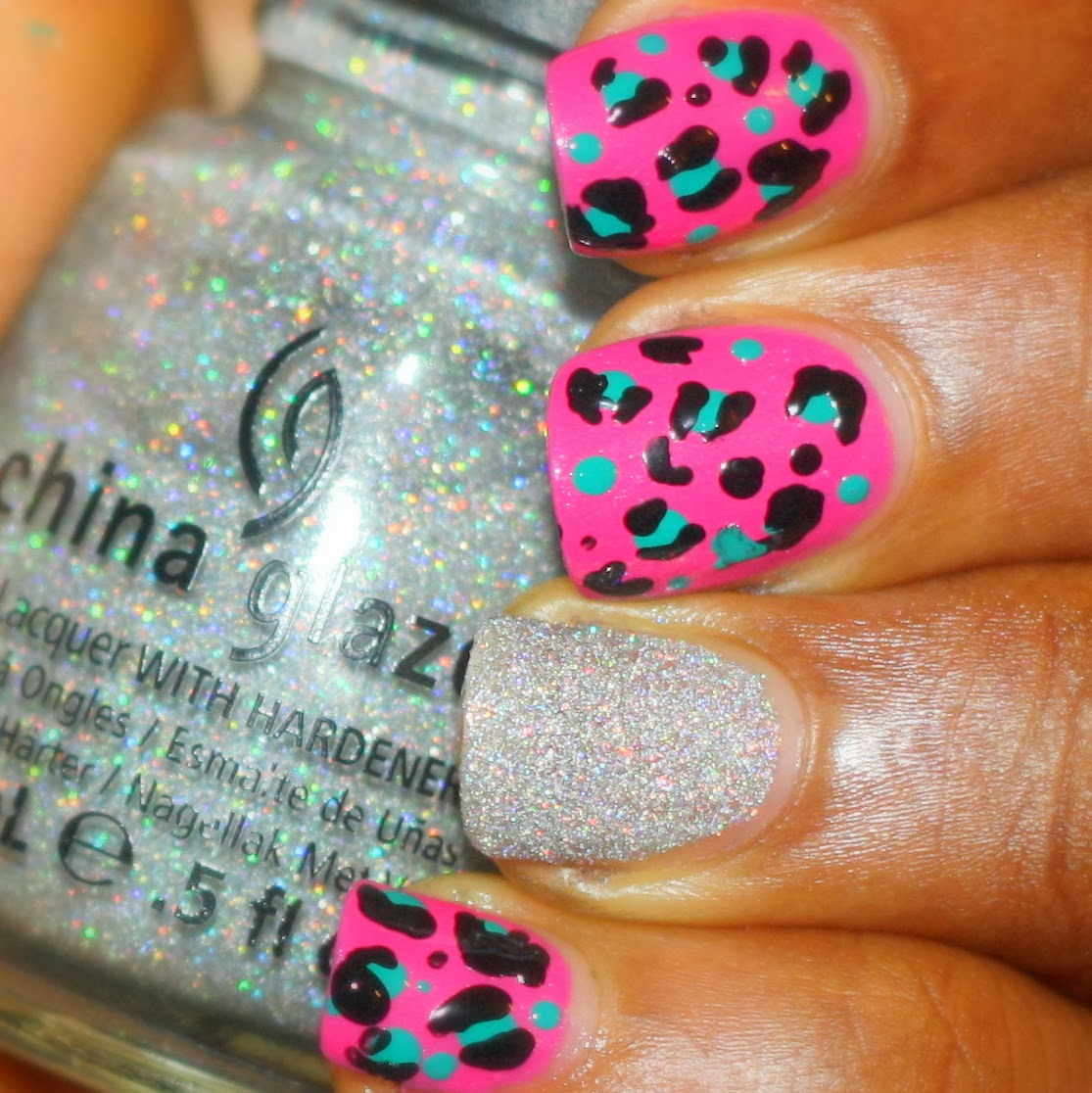 The Do It Yourself Lady: Colorful Leopard Print Nail Art