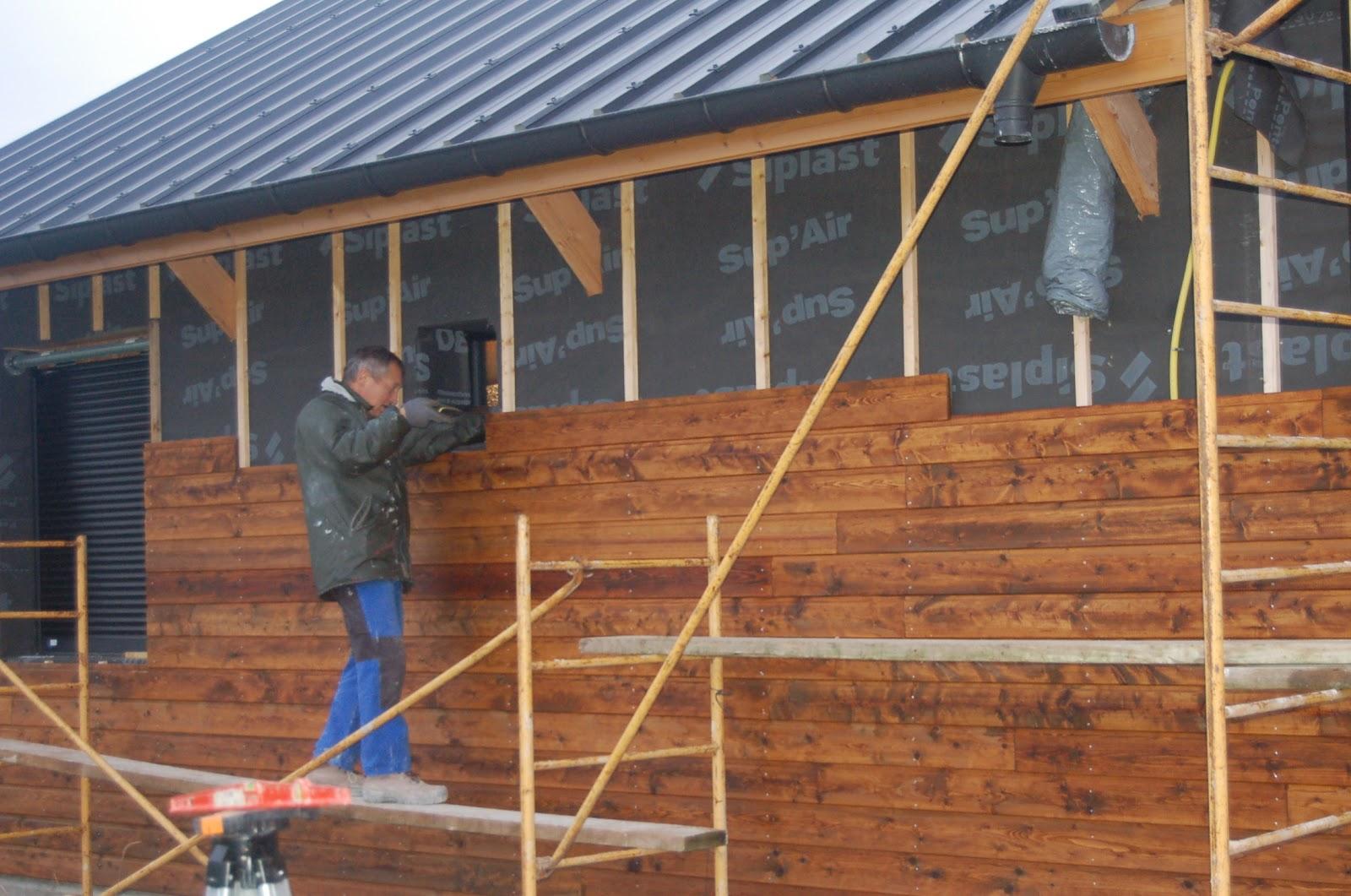 Chronique d 39 une construction de maison en paille ossature for Bois pour construction
