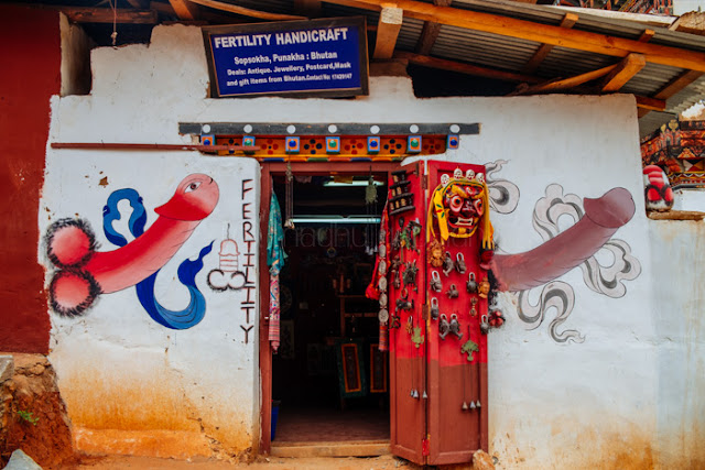 Phallus paintings in Punakha