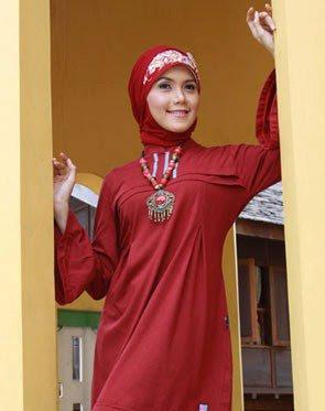 Zenitha Koleksi Busana Muslim Ukuran Big Size marun abu sedang