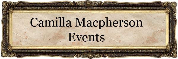 Camilla Macpherson Events