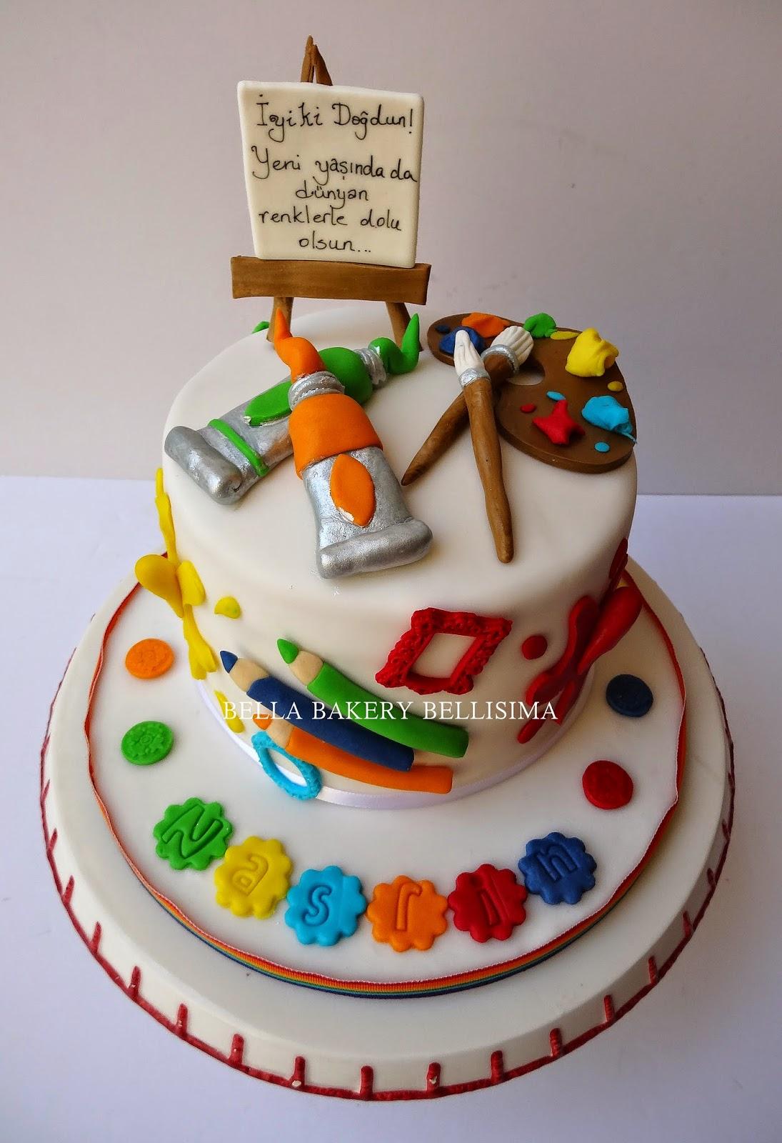 -: ART & ARTIST CAKE