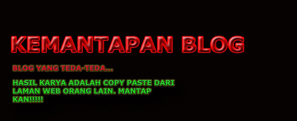 Kemantapan blog