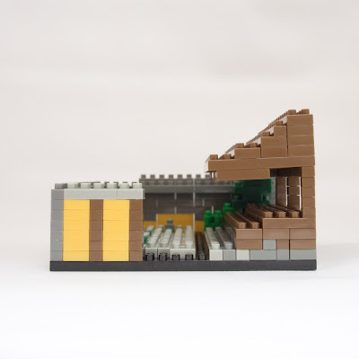 ナノブロックで作った龍安寺 石庭