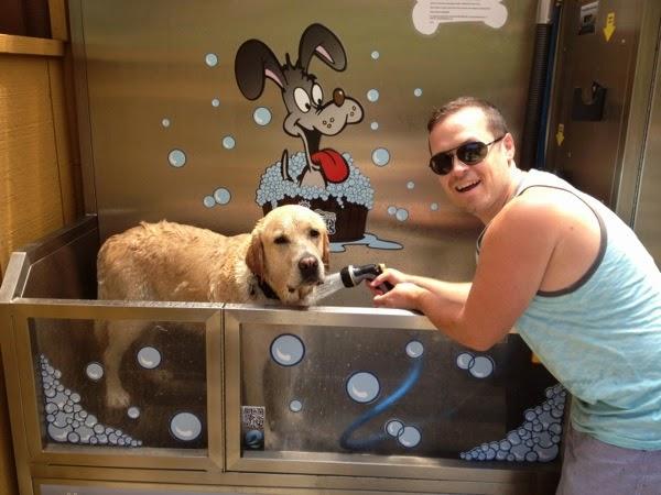 Hendry's Beach dog shower