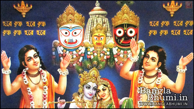Lord Jagannath Shri Krishna Indian God 1366x768 Wide Wallpaper