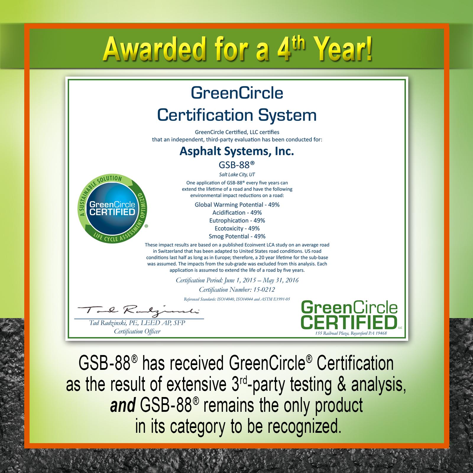 Gee Asphalt Systems Inc Gsb 88 Received 4th Greencircle