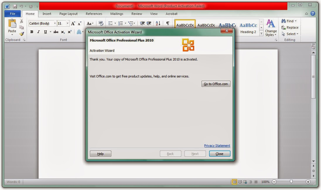 l i microsoft office professional plus 2010 activation wizard