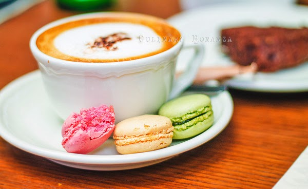 Cappuccino and Mini Macarons at PAUL Indonesia (Culinary Bonanza)