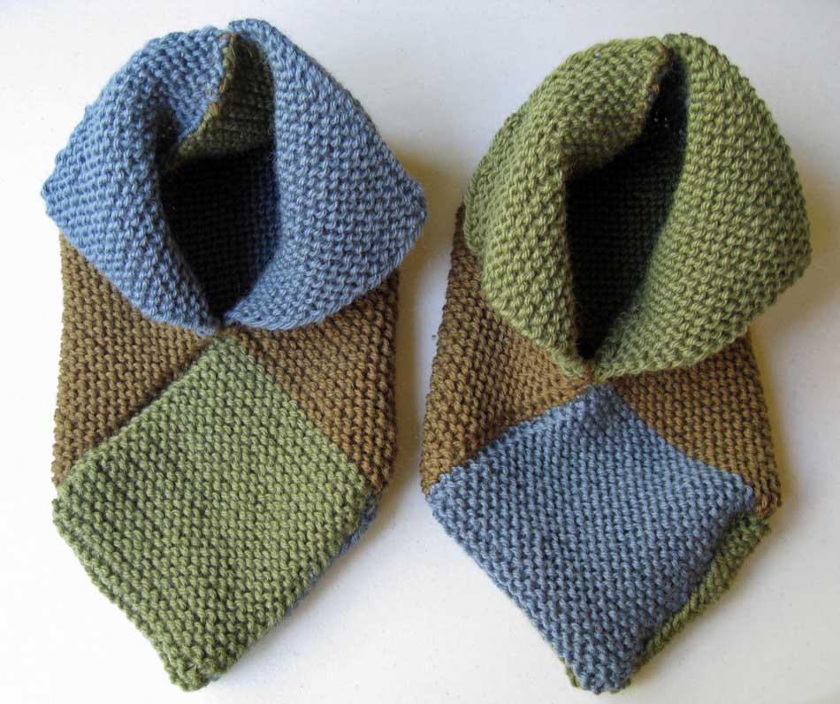 Knitting Pattern Slippers Squares : Wool Enough and Rhyme: A Felting Virgin No Longer