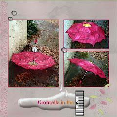 Umbrella in the rain ..