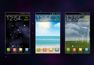 Samsung Galaxy S2 original wallpapers