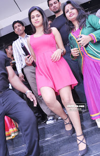 Shraddha Das Spotted in public wearing a super spicy Short Pink Gown