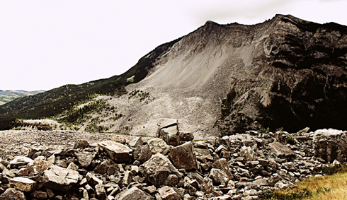 frank slide alberta rocky mountains travel photography