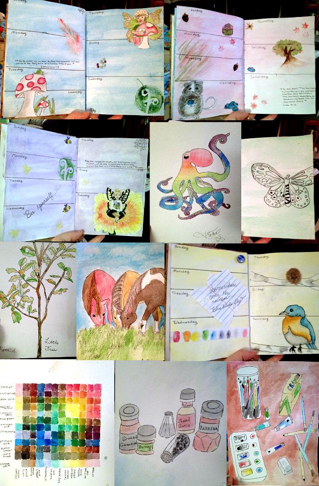 sketchbook journaling, artist journals, jenny's sketchbook