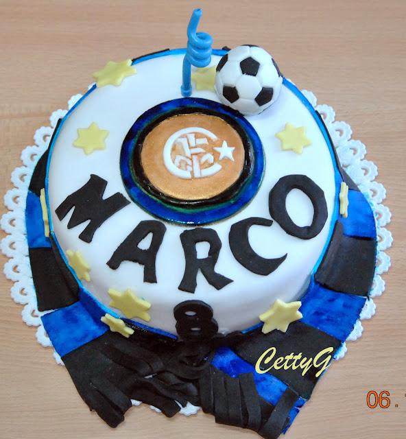 le torte decorate di cetty g torta inter in pasta di zucchero