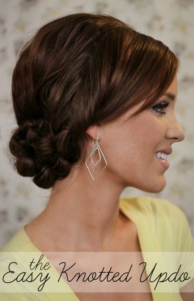 Hairstyles Up Easy : The Freckled Fox: Summers End Hair Week: The Easy Knotted Updo