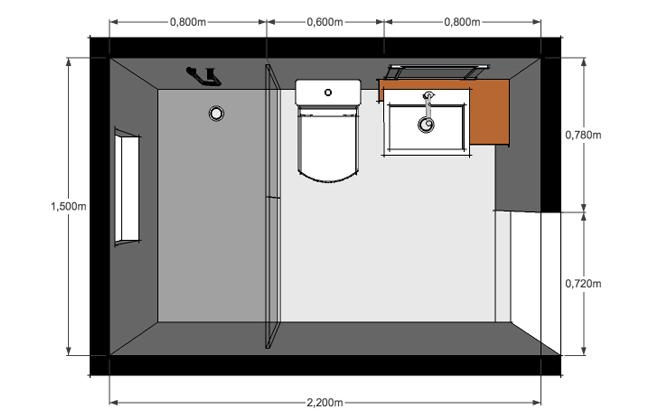 Baño Principal Medidas:INTERDECORAR: Diseño y distribución de baños