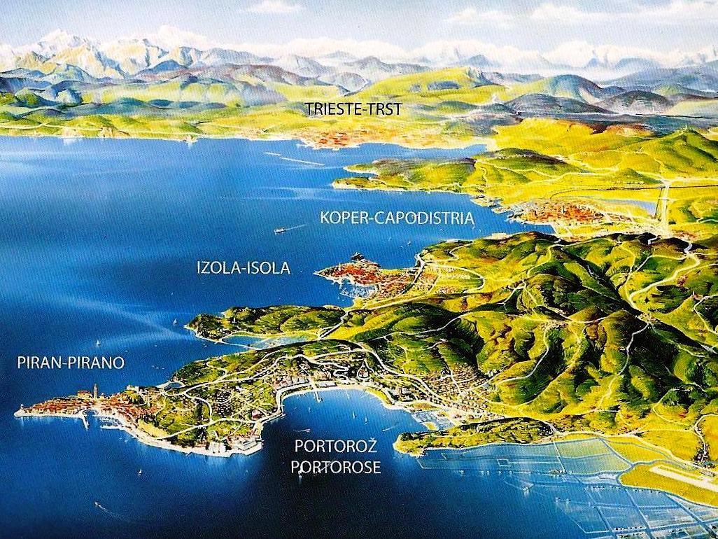 Vecchio Scarpone di Limena (Pd) - Litorale dell'Istria slovena, lungo la riva da Pirano a Isola
