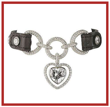 Juene diamond dog collar