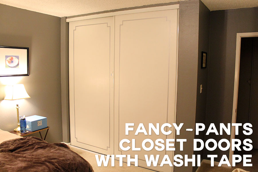 Tiny-Ass Apartment: Fancy-Pants Closet Doors With Washi Tape