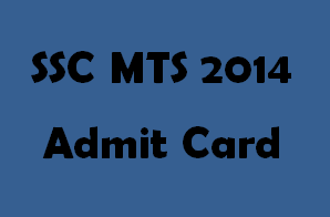 SSC MTS 2014 Admit Card