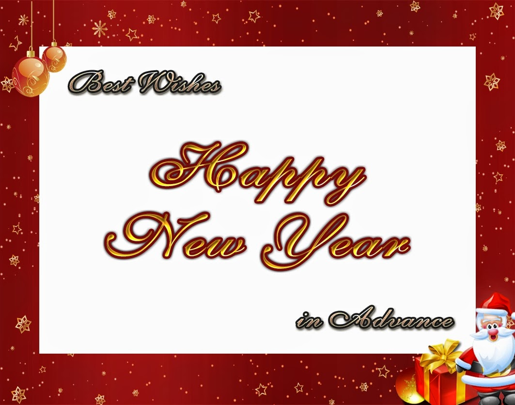 Shining Christmas New Years Advance Wishes 2015 eCard Images