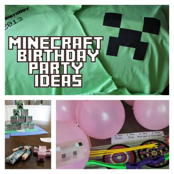 Minecraft Birthday Party Invitation Car Tuning