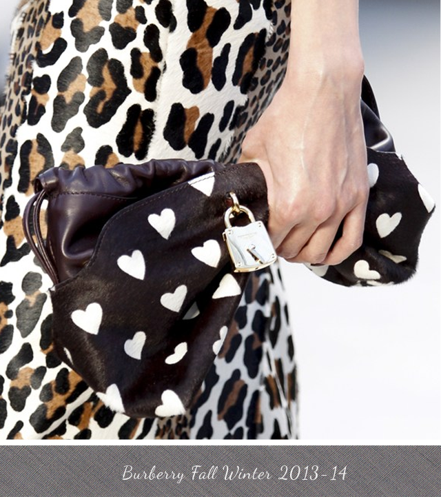 Burberry Little Crush heart print clutch from Fall Winter 2013 2014