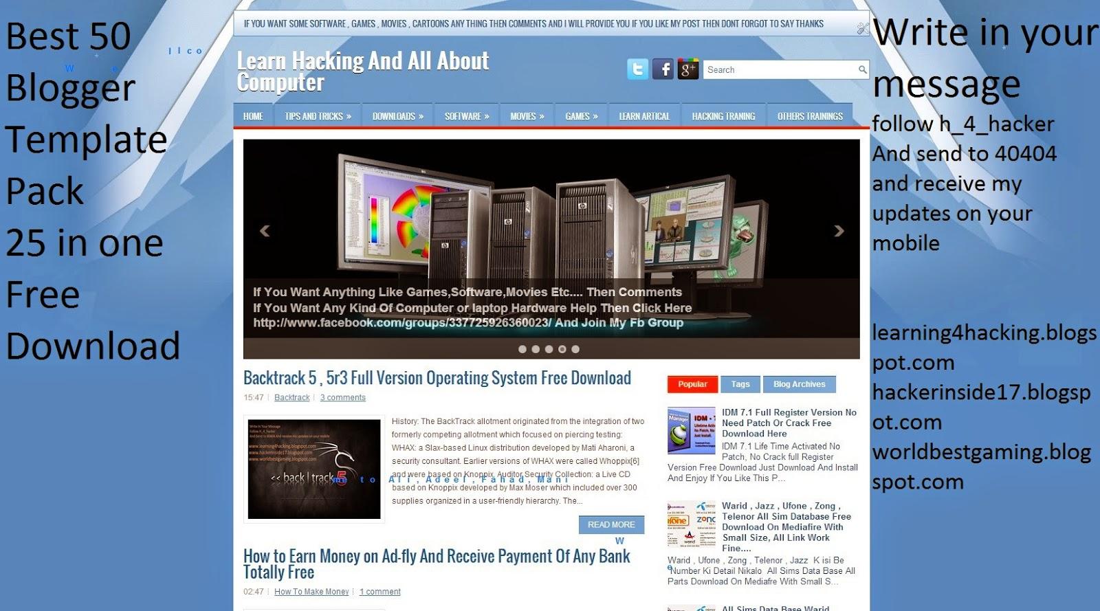 Best 25 Blogger Templates Free Download H4hacker