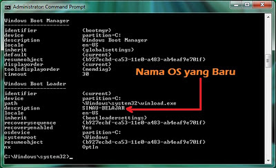 Cara Rename Nama Sistem Operasi Pada Windows Boot Manager