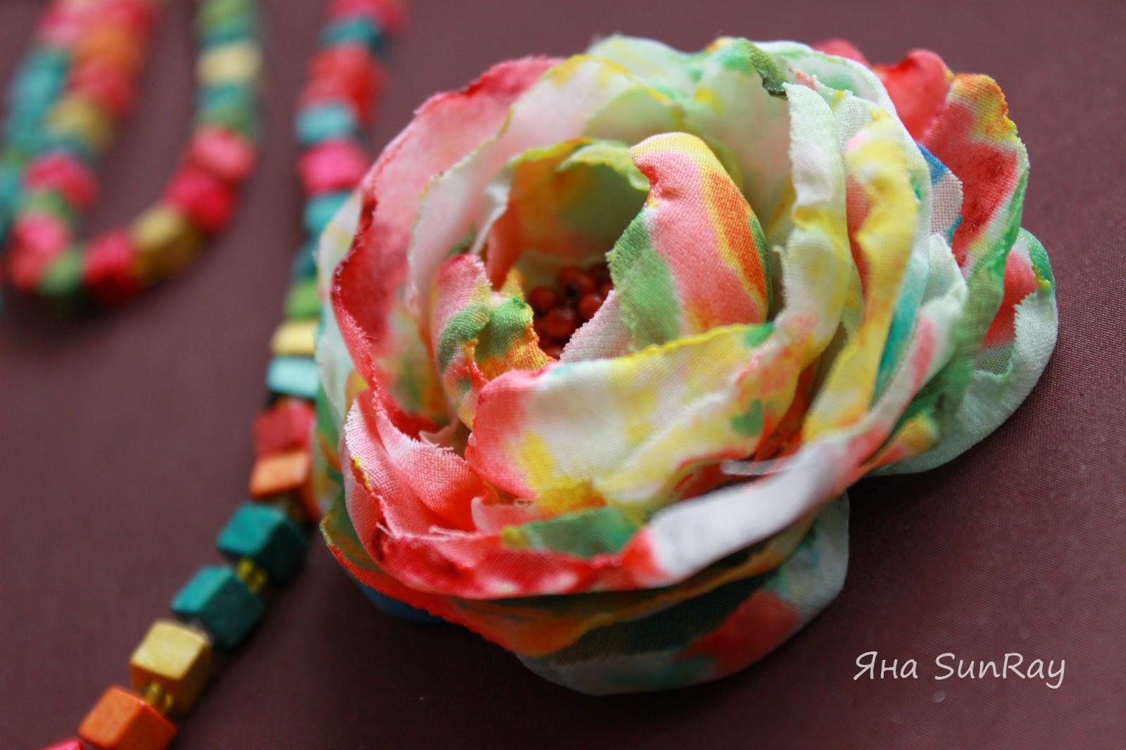 текстильные цветы, цветы из шелка, шелковые цветы, брошь в форме цветка, настроение своими руками,