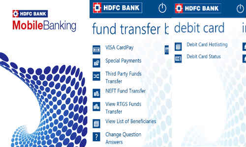 HDFC Bank mobile app launched for Windows Phone